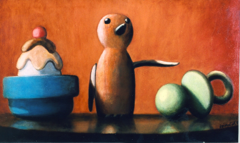 Wolfgang Leidhold, The Emperor / Der Imperator,Egg-tempera & oil on canvas - 22,8 x 38,2 inches - 2004 Tempera & Öl auf Leinwand - 58 x 97 cm - 2004