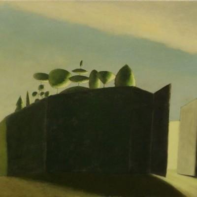 Wolfgang Leidhold, Die Vertreibung aus dem Paradies - Egg-tempera & oil on canvas, 31,5 x 39,4 inches, 2006 Tempera & Öl auf Leinwand, 80 x 100 cm, 2006