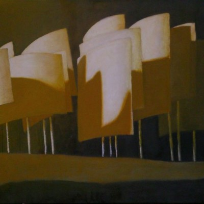 Wolfgang Leidhold, Noah's Arch / Die Arche Noah, Egg-tempera & oil on canvas, 27,5 x 43,7 inches, 2006 Tempera, Öl auf Leinwand, 70 x 111 cm, 2006