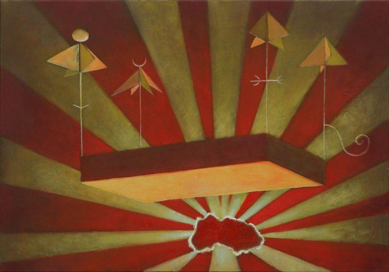 Wolfgang Leidhold, Esekiels Vision / Hesekiels Vision - Egg-tempera & oil on canvas, 31,5 x 39,4 inches, 2007 Tempera, Öl auf Leinwand, 80 x 100 cm, 2007
