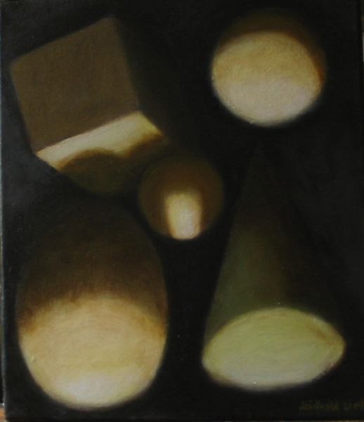 Wolfgang Leidhold, Untitled No 13 / Ohne Titel Nr. 13, Egg-tempera & oil on canvas - 15,7 x 11,8 inches - 2003 Tempera & Öl auf Leinwand - 40 x 30 cm - 2003