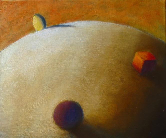 Wolfgang Leidhold, Small Planet / Kleiner Planet, Egg-tempera & oil on canvas - 15,7 x 19,7 inches - 2003 Tempera & Öl auf Leinwand - 40 x 50 cm - 2003