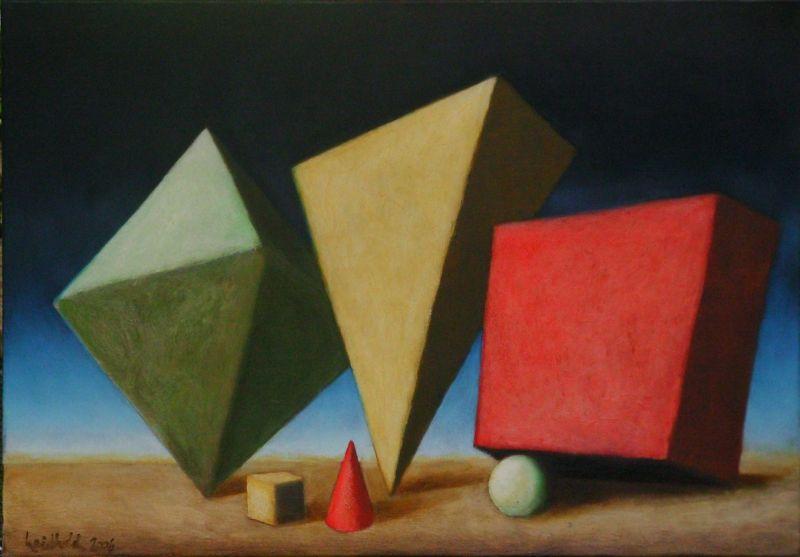 Wolfgang Leidhold, The Three Magi / Die drei Weisen aus dem Morgenland,Egg-tempera & oil on canvas, 31,5 x 39,4 inches, 2006 Tempera, Öl auf Leinwand, 80 x 100 cm, 2006