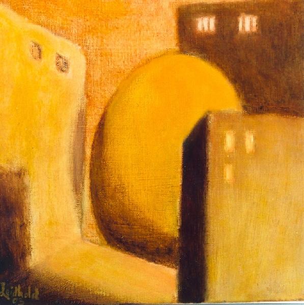 Wolfgang Leidhold, Untitled No 26 / Ohne Titel Nr. 26, Egg-tempera & oil on canvas - 11,8 x 15,7 inches - 2003 Tempera & Öl auf Leinwand - 30 x 40 cm - 2003