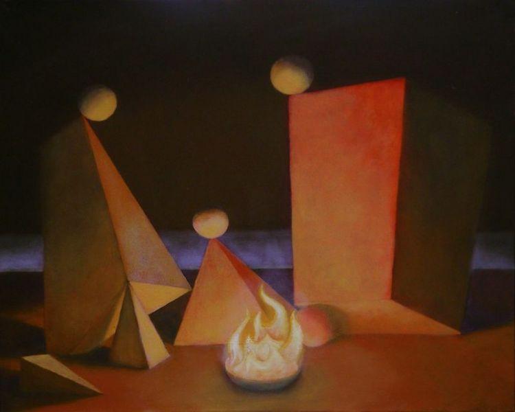 Wolfgang Leidhold, Rest on the Flight to Egypt / Die Rast auf der Flucht nach Ägypten, Egg-tempera & oil on canvas, 31,5 x 39,4 inches, 2007 Tempera, Öl auf Leinwand, 80 x 100 cm, 2007