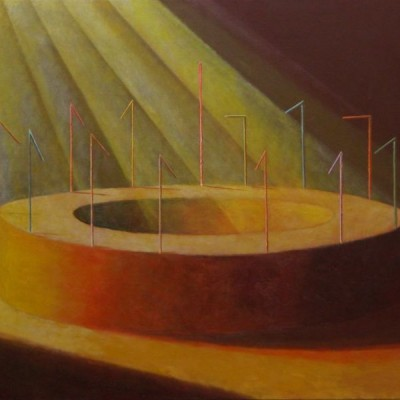 Wolfgang Leidhold, The Last Supper / Abendmahl, Egg-tempera & oil on canvas, 55,1 x 43,3 inches, 2007 Tempera, Öl auf Leinwand, 140 x 100 cm, 2007