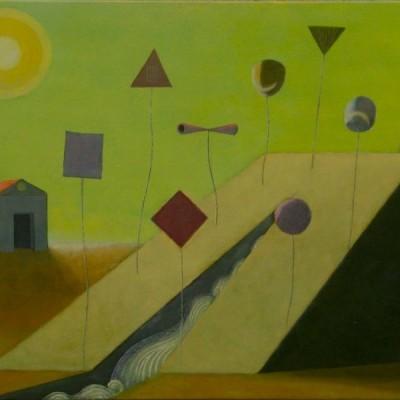Wolfgang Leidhold, The Nine Muses / Die neun Musen, Egg-tempera & oil on canvas, 31,5 x 39,4 inches, 2007 Tempera, Öl auf Leinwand, 80 x 100 cm, 2007