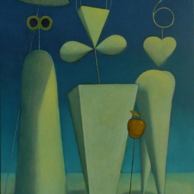 Wolfgang Leidhold, The Three Goddesses and the Judgement of Paris / Das Urteil des Paris, Egg-tempera & oil on canvas, 31,5 x 39,4 inches, 2007 Tempera, Öl auf Leinwand, 80 x 100 cm, 2007