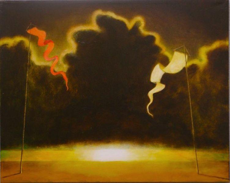 Wolfgang Leidhold, Ying & Yang: Darkness & Light / Ying & Yang: Das Dunkel und das Licht, Egg-tempera & oil on canvas, 31,5 x 39,4 inches, 2007 Tempera, Öl auf Leinwand, 80 x 100 cm, 2007