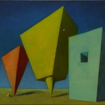 Wolfgang Leidhold, The Yellow Emperor / Der Gelbe Kaiser, Egg-tempera & oil on canvas, 31,5 x 39,4 inches, 2007 Tempera, Öl auf Leinwand, 80 x 100 cm, 2007