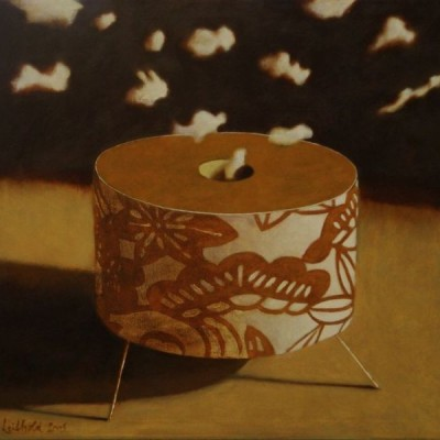 Wolfgang Leidhold, Yin & Yang: Tripod 1 / Ying und Yang: Dreifuß Nr. 1, Egg-tempera & oil on canvas, 39,4 x 39,4 inches, 2007 Tempera, Öl auf Leinwand, 100 x 100 cm, 2007