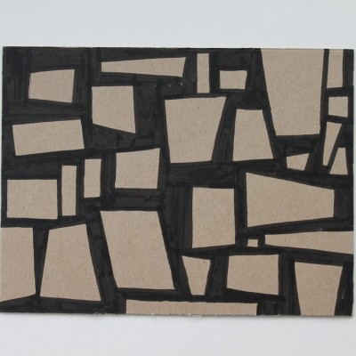Wolfgang Leidhold, Sketch No 01, Sketch No 01, Ink on paper - 6,5 x 9,25 inches - 2013 Sketch No 01, Tinte auf Papier - 17 x 23 cm - 2013