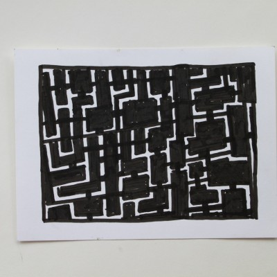 Wolfgang Leidhold, Sketch No 06, Ink on paper - 6,5 x 9,25 inches - 2013 Tinte auf Papier - 17 x 23 cm - 2013