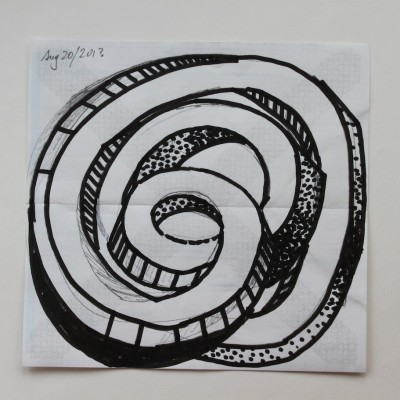Wolfgang Leidhold, Sketch No 33, Ink on paper - 6,5 x 6,5 inches - 2013 Tinte auf Papier - 15,5 x 15,5 cm - 2013
