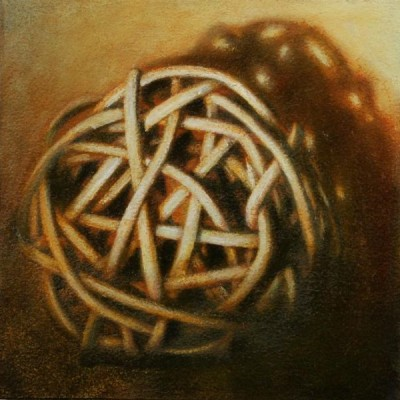 Wolfgang Leidhold, Small Knot No. 04 (acrylic, egg-tempera & oil on paper mounted on panel), 5,9 x 5,9 inches, 2013 Small Knot No. 04 (Acryl, Tempera & Öl auf Papier/Tafel), 15 x 15 cm, 2013