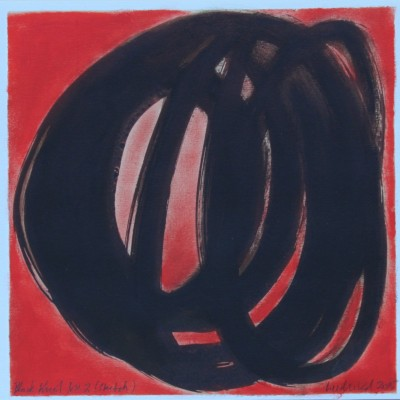 Wolfgang Leidhold, Black Knot No 2 [sketch], Acrylic, ink and oil on paper, 13 × 13 inch, 2014 - Acryl, Tinte und Öl auf Papier, 33 × 33 cm, 2014