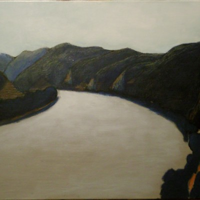 Duernstein: View of the Danube - 60 x 80 -acrylics and oil