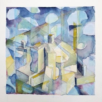 Untitled Sketch FÜR Work on Paper (Cityscape) 20x20